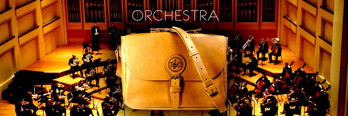 Кожаная мужская сумка через плечо Orchestra