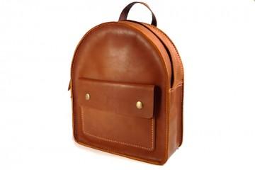FOXY. Рыже-коричневый кожаный женский рюкзак